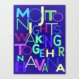 Mojito nights, waking together in Havana. Canvas Print