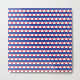 Paranoia (Blue and Red) Metal Print