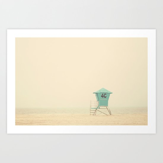 the sound of outer ocean on a beach ... Art Print