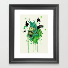You're A Mean One Framed Art Print