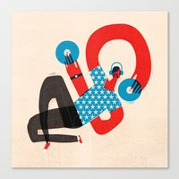 dj Canvas Prints featuring DJ by Keith Negley