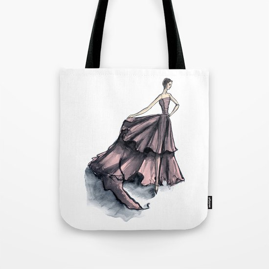 Audrey Hepburn in Pink dress vintage fashion Tote Bag