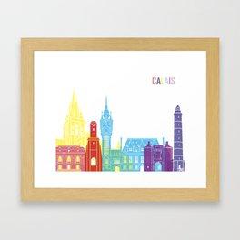Calais skyline pop Framed Art Print