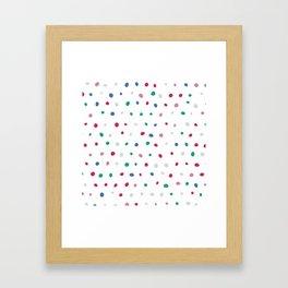 Lovely Dots Framed Art Print