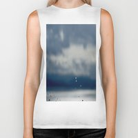 aperture Biker Tanks featuring The Sky Resting on Water by Jane Lacey Smith