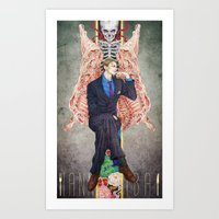 hannibal Art Prints featuring Hannibal by Chillalee