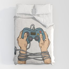 Hands tied by wire Comforters