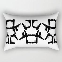 Pistol Robots Rectangular Pillow