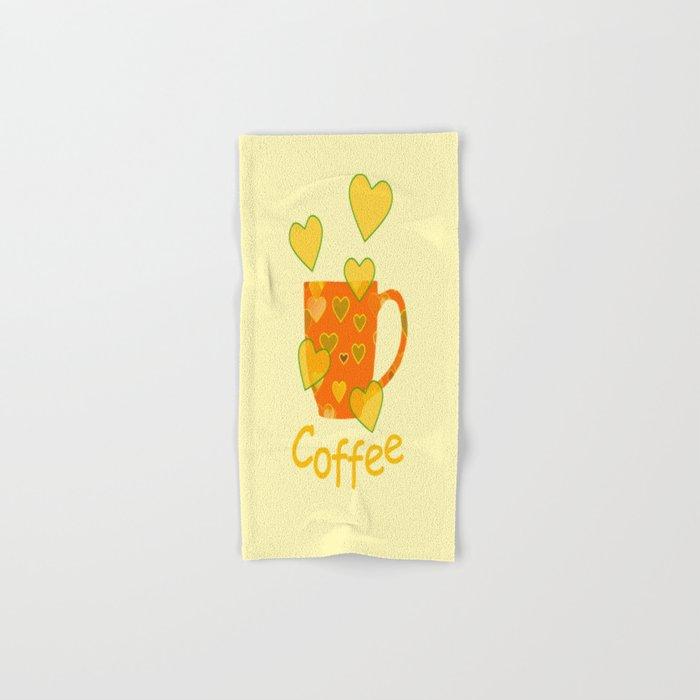Coffee Fanatic Hand & Bath Towel