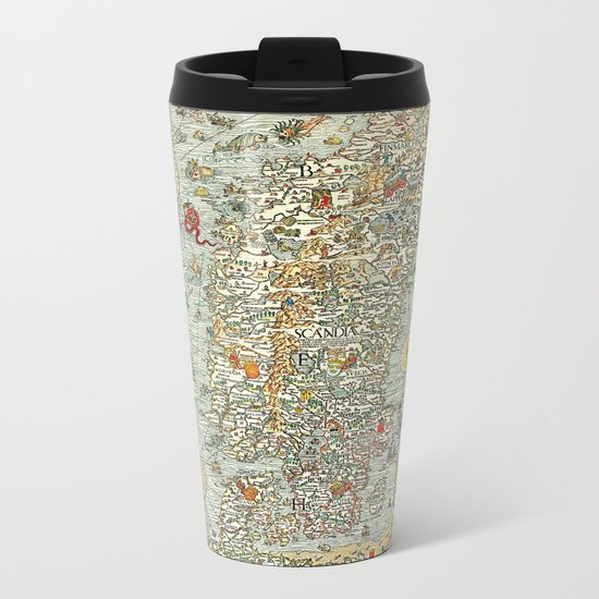 Ancient map Metal Travel Mug