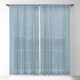 doodle lines Sheer Curtain