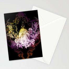Wonderful owls, colorful Stationery Cards