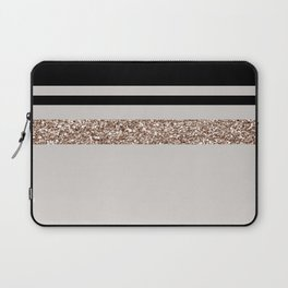Taupe rose gold glam Laptop Sleeve