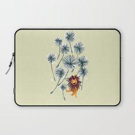 Lion on dandelion Laptop Sleeve