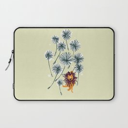 Lion on dandelion Laptop Sleeve