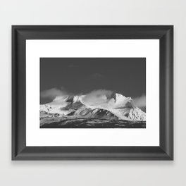 Snowy Peaks - Landscape and Nature Photography Framed Art Print