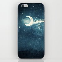 river iPhone & iPod Skins featuring Moon River by Paula Belle Flores