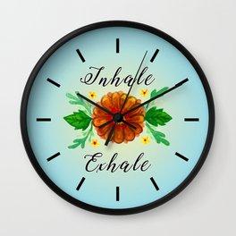 Inhale & Exhale Mandala Wall Clock