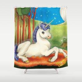 Goodnight Unicorn Shower Curtain