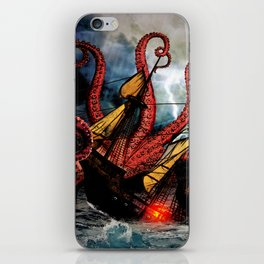 In the Grasp of the Storm iPhone Skin