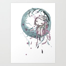 la bocca Art Print