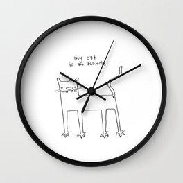 A-hole cat Wall Clock