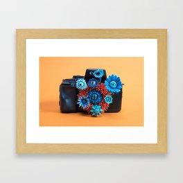 Surveillance Camera | Eyed Flowers Watching | Surrealistic Sculpture by Stephanie Kilgast Framed Art Print