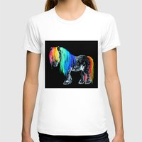 pony T-shirts featuring Rainbow Pony by Crystal Cook Art