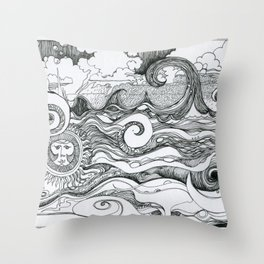 Returning to Wrightsville Beach Throw Pillow