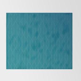 Wave pattern in teal Throw Blanket