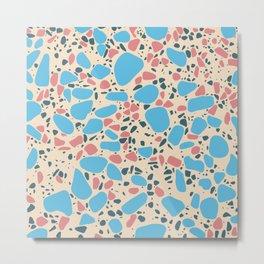 Terrazzo - Mosaic - Pastels Metal Print