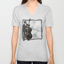 Double Bass Unisex V-Neck