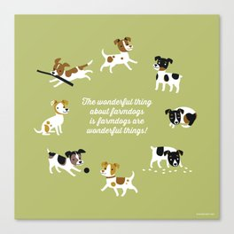 Farmdogs are wonderful things Canvas Print