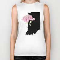 indiana Biker Tanks featuring Indiana Silhouette by Ursula Rodgers