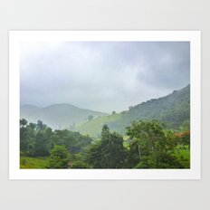 rainy hill Art Print