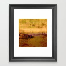 golden abstract landscape Framed Art Print