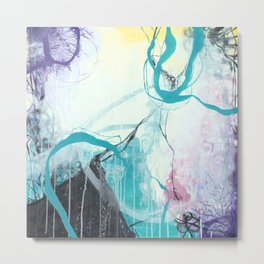 Ice Wind - Square Abstract Expressionism Metal Print