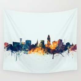 Lincoln Nebraska Skyline Wall Tapestry