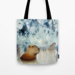 Capybara Springs Tote Bag