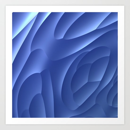 Blue Dune Art Print