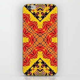 ethnic cross red iPhone Skin