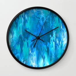Marshmellow Skies (sapphire-turquoise-sky blue) Wall Clock