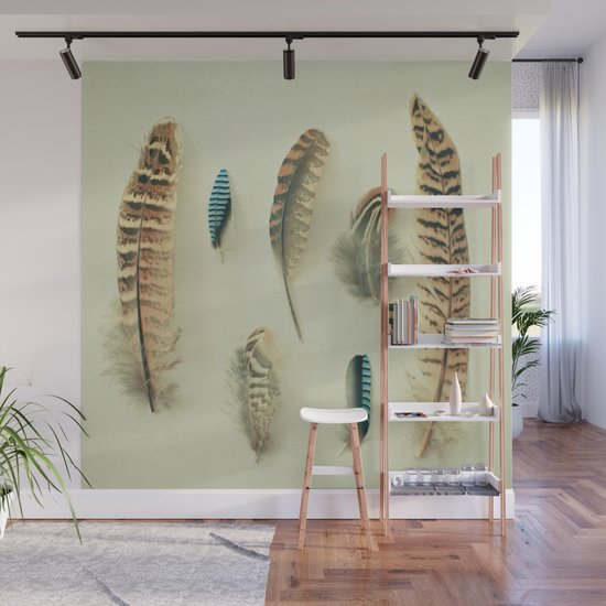 5cdf00b4b668a The Feather Collection Wall Mural