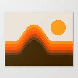 Golden Horizon Diptych - Left Side Canvas Print