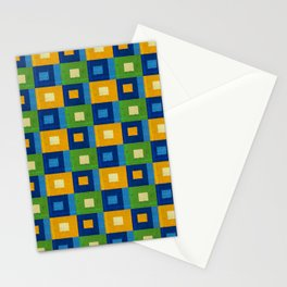 Summer laziness. Squares inside each other. Stationery Cards