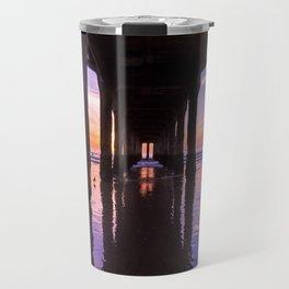 Manhattan Beach Pier at Sunset #arlenecarley #bohovantravels Travel Mug