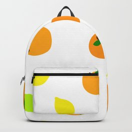 Citrus with Yellow, Orange and Green Oranges, Lemons and Limes Backpack