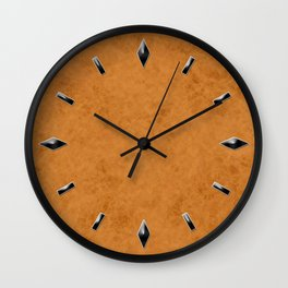 Yellow suede textured stone wall Wall Clock