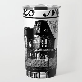 Bates Motel Advertisement - Black Type Travel Mug