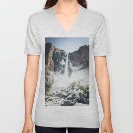 Yosemite Bridal Veil Falls Unisex V-Neck